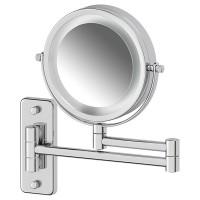 Косметическое зеркало двустороннее с подсветкой x3 Defesto PRO DEF 102