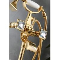 Смеситель для ванной CHIC DIAMANTE 44004, цвет — золото