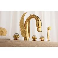 Смеситель на борт ванной Cristal Gold 23007-DS, цвет — золото