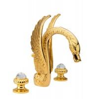 Смеситель для умывальника Cristal Gold 23037-DS, цвет — золото