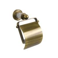 Держатель туалетной бумаги с крышкой Boheme Murano 10901-W-BR