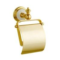Держатель туалетной бумаги с крышкой Boheme Palazzo Bianco 10101