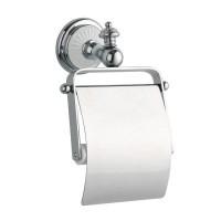 Держатель туалетной бумаги с крышкой Boheme Vogue Bianco 10131