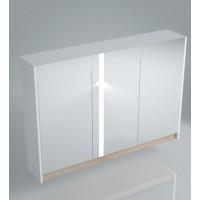 Зеркальный шкаф 100х75 см, дуб\белый KERAMA MARAZZI Buongiorno BG.mi.100.2\WHT