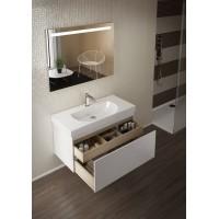 Комплект мебели для ванной комнаты 100 (тумба с раковиной+зеркало) KERAMA MARAZZI Buongiorno BG-100-1-mi-2-wb-WHT
