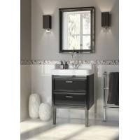 Комплект мебели для ванной комнаты 60 (тумба с раковиной+зеркало) KERAMA MARAZZI Pompei Po-60-2-mi-wb-BLK