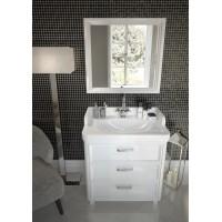 Комплект мебели для ванной комнаты 80 (тумба с раковиной+зеркало) KERAMA MARAZZI Pompei Po-80-3-mi-wb-BLK