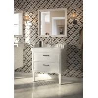 Комплект мебели для ванной комнаты 80 (тумба с раковиной+зеркало) KERAMA MARAZZI Pompei Po-80-2-mi-wb-WHT