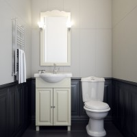 Комплект мебели (тумба с раковиной+ зеркало с подсветкой) Opadiris Атрия 55 для ванной комнаты