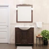 Комплект мебели (тумба с раковиной+ зеркало с подсветкой) Opadiris Атрия 75 для ванной комнаты