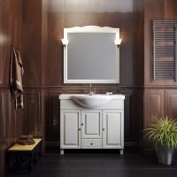 Комплект мебели (тумба с раковиной+ зеркало с подсветкой) Opadiris Атрия 95 для ванной комнаты