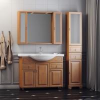Комплект мебели (тумба с раковиной+ зеркало с подсветкой) Opadiris Гредос 105 для ванной комнаты