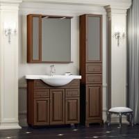 Комплект мебели (тумба с раковиной+ зеркало с подсветкой) Opadiris Гредос 75 для ванной комнаты