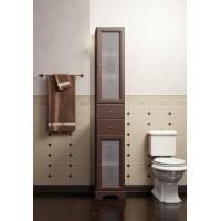 Шкаф-пенал для ванной комнаты Opadiris Кама орех антикварный/слоновая кость