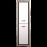 Шкаф-пенал Opadiris Карат подвесной для ванной комнаты белый с серебром