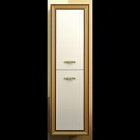 Шкаф-пенал Opadiris Карат подвесной для ванной комнаты белый с золотом