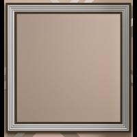Зеркало с встроенной подсветкой Opadiris Карат 100 для ванной комнаты белый с серебром