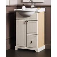 Тумба напольная с раковиной Opadiris Клио 50 для ванной комнаты белый
