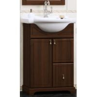 Тумба напольная с раковиной Opadiris Клио 50 для ванной комнаты орех антикварный
