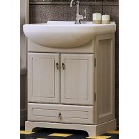 Тумба напольная с раковиной Opadiris Клио 65 для ванной комнаты белый