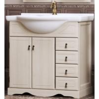 Тумба напольная с раковиной Opadiris Клио 70 для ванной комнаты белый
