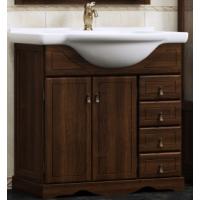 Тумба напольная с раковиной Opadiris Клио 70 для ванной комнаты орех антикварный