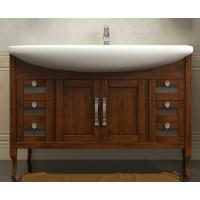 Тумба напольная с раковиной Opadiris Мираж 120 для ванной комнаты светлый орех