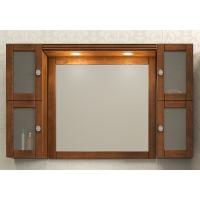 Зеркало с подсветкой и двумя шкафчиками Opadiris Мираж 120 для ванной комнаты светлый орех