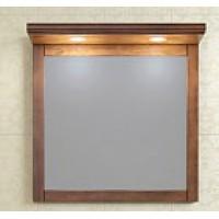 Зеркало с подсветкой Opadiris Мираж 80 для ванной комнаты светлый орех