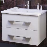 Тумба с раковиной Opadiris Октава 60 для ванной комнаты подвесная белый глянцевый