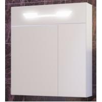 Зеркало-шкаф Opadiris Октава 80 подвесной с подсветкой для ванной комнаты белый глянцевый