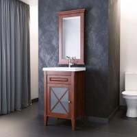 Комплект мебели (тумба напольная с раковиной+зеркало) Opadiris Палермо 50 для ванной комнаты