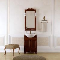 Комплект мебели (тумба напольная с раковиной+зеркало с подсветкой) Opadiris Тибет 50 для ванной комнаты