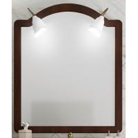 Зеркало с подсветкой Opadiris Виктория для ванной комнаты светлый орех