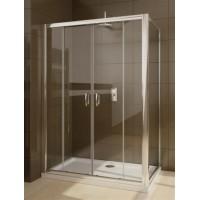 Душевой уголок Radaway Premium Plus DWJ+S 100х80 стекло фабрик 333-03-01-06N-13-01-06N