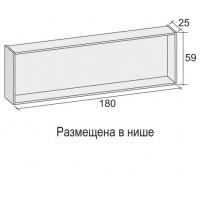 Панель для ванны Riho GIRASOLE 180х100 при размещении в нише 4ZGI004*FIN
