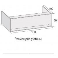 Панель для ванны Riho GIRASOLE 180х100 при размещении у стены 4ZGI006*FIN