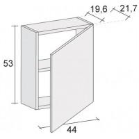 Шкафчик для панели под ванну Riho GIRASOLE 180х100 с распашной правой дверью с одной полкой F1GI00440612*FIN*FIN