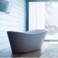 Ванна акриловая отдельностоящая 170x80 Gruppo Treesse Nina V0371 хром