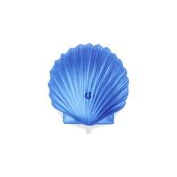 Вакуумная присоска с декоративным элементом морская раковина, цвет синий Sorcosa Deco GHI 401