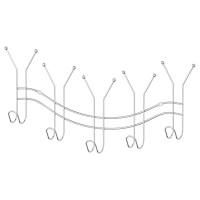 Планка с 5-ю двойными крючками-вешалками 50,5 см Sorcosa Plain GHI 006