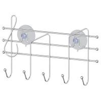 Планка с 5-ю крючками на вакуумных присосках 29 см Sorcosa Plain GHI 011