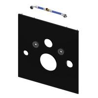 Нижняя панель крепления унитаза-биде TECElux 9.650.106, стекло черное