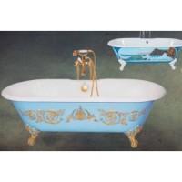 Чугунная ванна 170х78см Recor Dual Decor с ножками Imperial, с декором