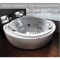 Гидромассажная ванна 160х160см Jacuzzi Nova Corner Top Aquasystem (дерево Wenge) 9Q43-553A