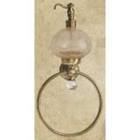 Полотенцедержатель-кольцо с дозатором для жидкого мыла Migliore Cristalia ML.CRS-60.226 BR
