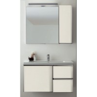 Комплект мебели 95см Arbi Rimini, белый глянцевый