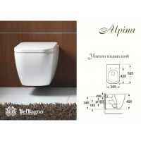 Унитаз подвесной BelBagno Alpina BB10100CH